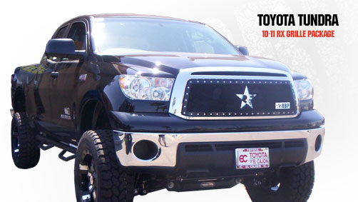 Toyota Tundra (except Limited) 2010-2011 - Rbp Rx Series Studded Frame Main Grille Black
