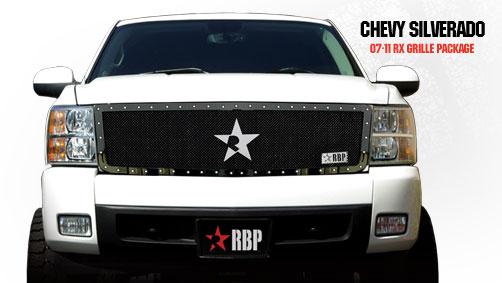 Chevrolet Silverado 1500 2007-2011 - Rbp Rx Series Studded Frame Bumper Grille Black