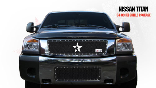Nissan Titan  2004-2009 - Rbp Rx Series Studded Frame Bumper Grille Black 