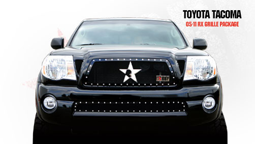 Toyota Tacoma  2005-2011 - Rbp Rx Series Studded Frame Bumper Grille Black