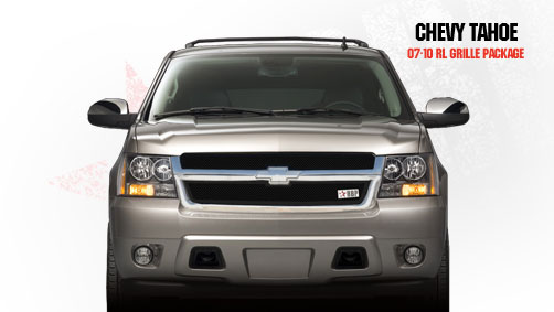 Chevrolet Tahoe  2007-2011 - Rbp Rl Series Plain Frame Main Grille Black 2pc
