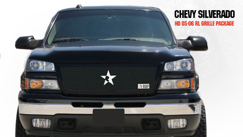 Chevrolet Silverado 2500hd/3500hd 2005-2006 - Rbp Rl Series Plain Frame Main Grille Black 1pc