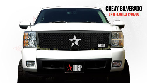 Chevrolet Silverado 1500 2007-2011 - Rbp Rl Series Plain Frame Main Grille Black 1pc