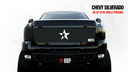 Chevrolet Silverado 2500hd/3500hd 2007-2010 - Rbp Rl Series Plain Frame Main Grille Black 1pc