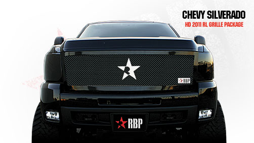 Chevrolet Silverado 2500hd/3500hd 2011-2012 - Rbp Rl Series Plain Frame Main Grille Black 1pc