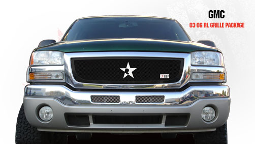 Gmc Sierra (all Models Except C3) 2003-2006 - Rbp Rl Series Plain Frame Main Grille Black