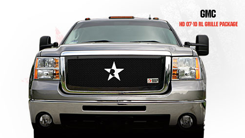 Gmc Sierra 2500hd, 3500 2007-2010 - Rbp Rl Series Plain Frame Main Grille Black