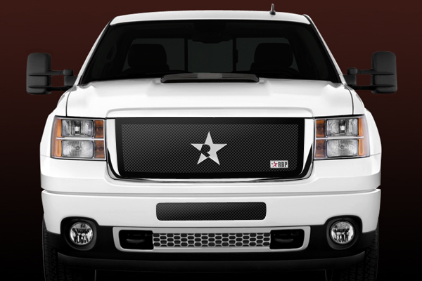 Gmc Sierra 2500hd, 3500 (except Denali) 2011-2012 - Rbp Rl Series Plain Frame Main Grille Black