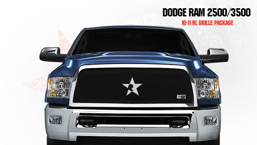 Dodge Ram 2500/3500 2010-2011 - Rbp Rl Series Plain Frame Main Grille Black 1pc