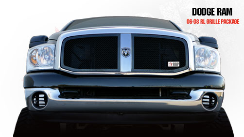 Dodge Ram 1500/2500/3500 2006-2008 - Rbp Rl Series Plain Frame Main Grille Black 2pc
