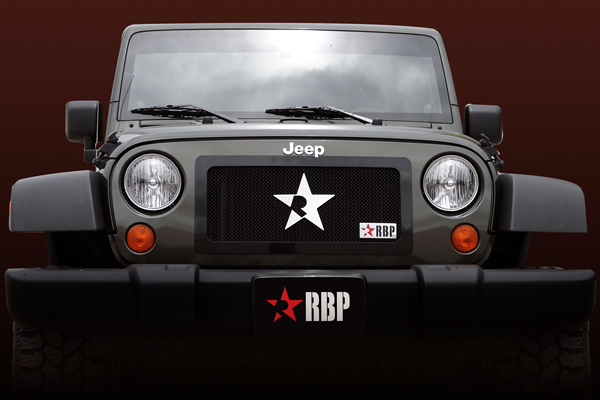 Jeep Wrangler  2007-2011 - Rbp Rl Series Plain Frame Main Grille Black 1pc
