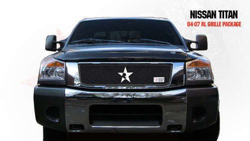 Nissan Titan  2004-2009 - Rbp Rl Series Plain Frame Main Grille Black 1pc
