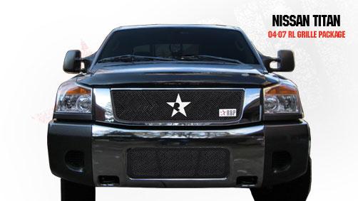 Nissan Titan  2004-2007 - Rbp Rl Series Plain Frame Main Grille Black 3pc