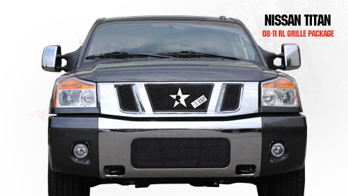 Nissan Titan  2008-2011 - Rbp Rl Series Plain Frame Main Grille Black 3pc