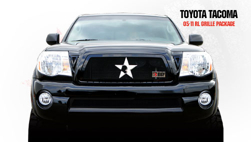 Toyota Tacoma  2005-2011 - Rbp Rl Series Plain Frame Main Grille Black