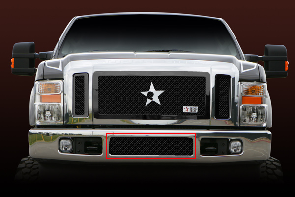 Ford F150 (except Harley Edition) 2009-2012 - Rbp Rl Series Center Section - Mesh Bumper Grille Black 