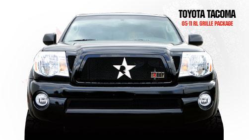 Toyota Tacoma  2005-2011 - Rbp Rl Series Plain Frame Bumper Grille Black