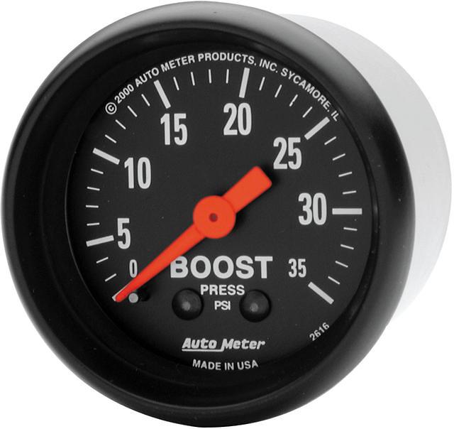 Auto Meter Z Series 2-1/16 inch Boost Gauge