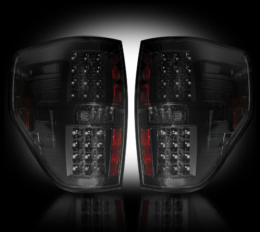 Ford F150 2009 - 2012 LED Tail Lights Smoked