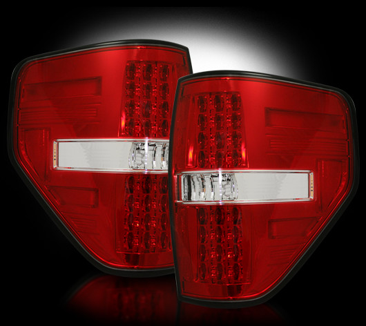 Ford F150 2009 - 2012 LED Tail Lights Red