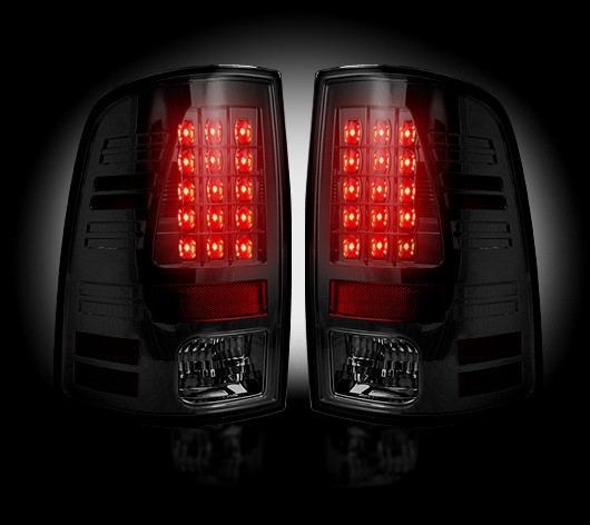 Dodge Ram 2010-2012 Smoked LED Tail Lights