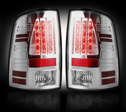 Dodge Ram 2010-2012 Chrome LED Tail Lights