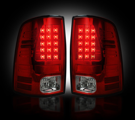 Dodge Ram 2010-2012 Red Smoked LED Tail Lights