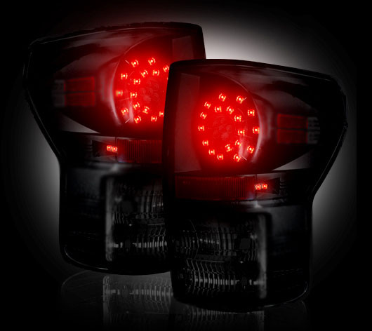 Toyota Tundra 2007 - 2012 LED Tail Lights Smoked