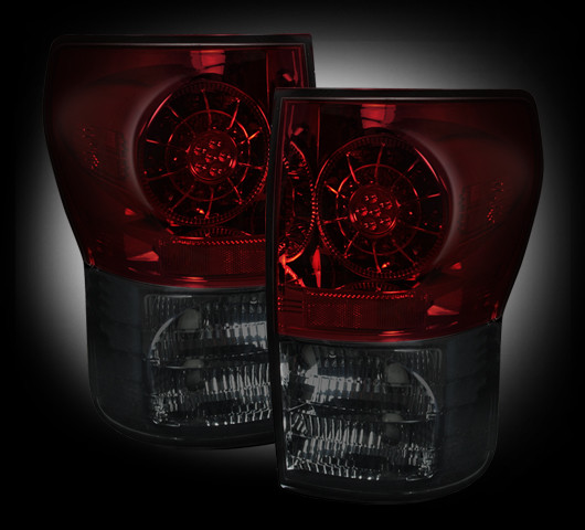 Toyota Tundra 2007 - 2012 LED Tail Lights Red Smoked