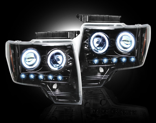 Ford F150 2009-2011 Black Projector Headlights