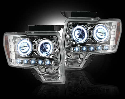 Ford F150 2009-2011 Chrome Projector Headlights