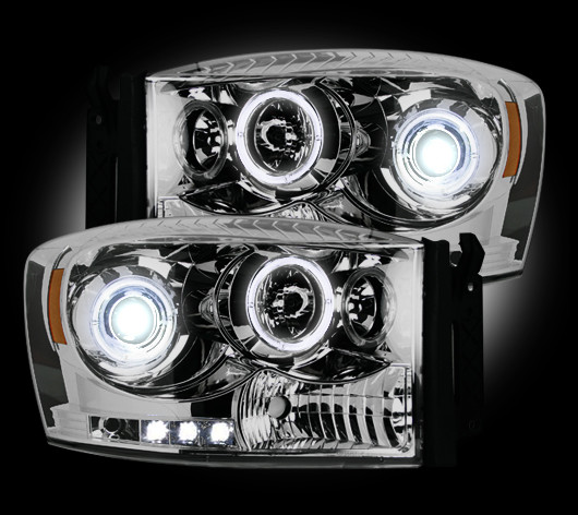 Dodge Ram 2006-2008 Chrome Projector Headlights