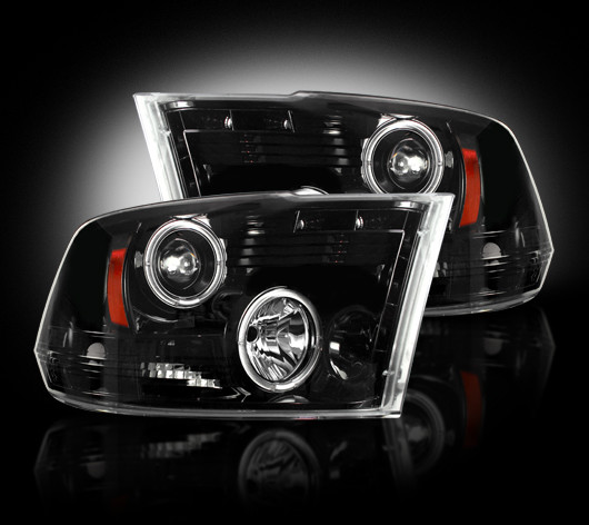 Dodge Ram 2009-2011 Black Projector Headlights