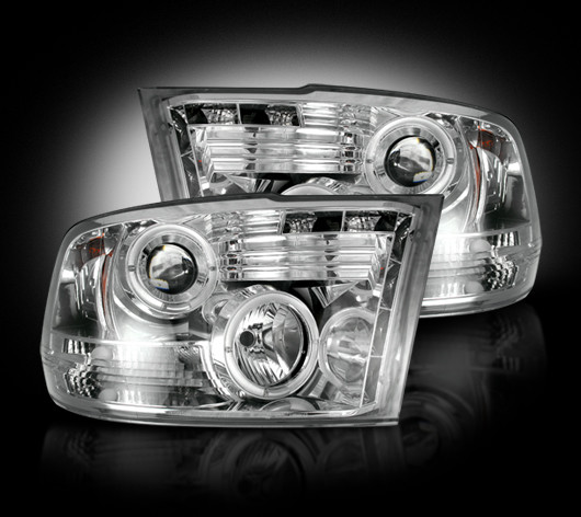 Dodge Ram 2009-2011 Chrome Projector Headlights