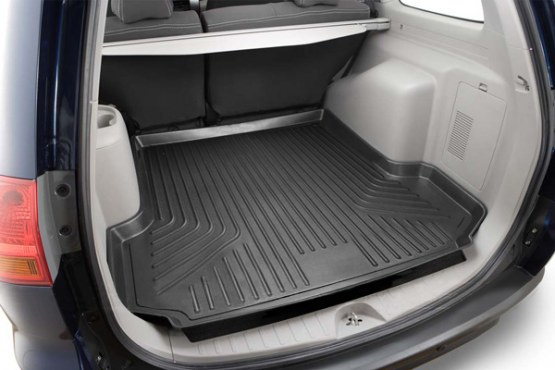 Hyundai Santa Fe 2007-2012  Husky Weatherbeater Series Cargo Liner - Black