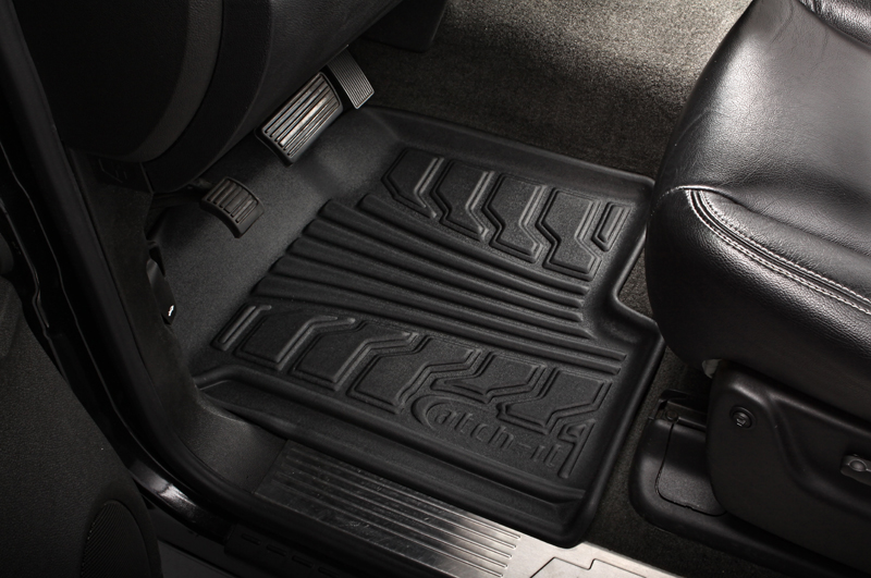 Chevrolet Silverado 2007-2010 Extended Cab Nifty  Catch-It Floormats- Front - Black
