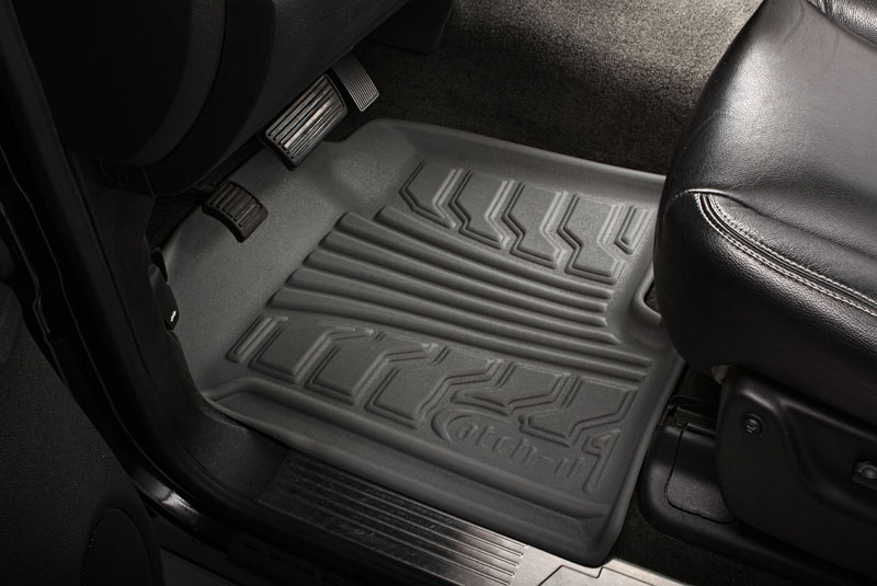 Chevrolet Silverado 2007-2010 Extended Cab Nifty  Catch-It Floormats- Front - Grey