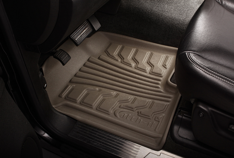 Chevrolet Silverado 2007-2010 Extended Cab Nifty  Catch-It Floormats- Front - Tan