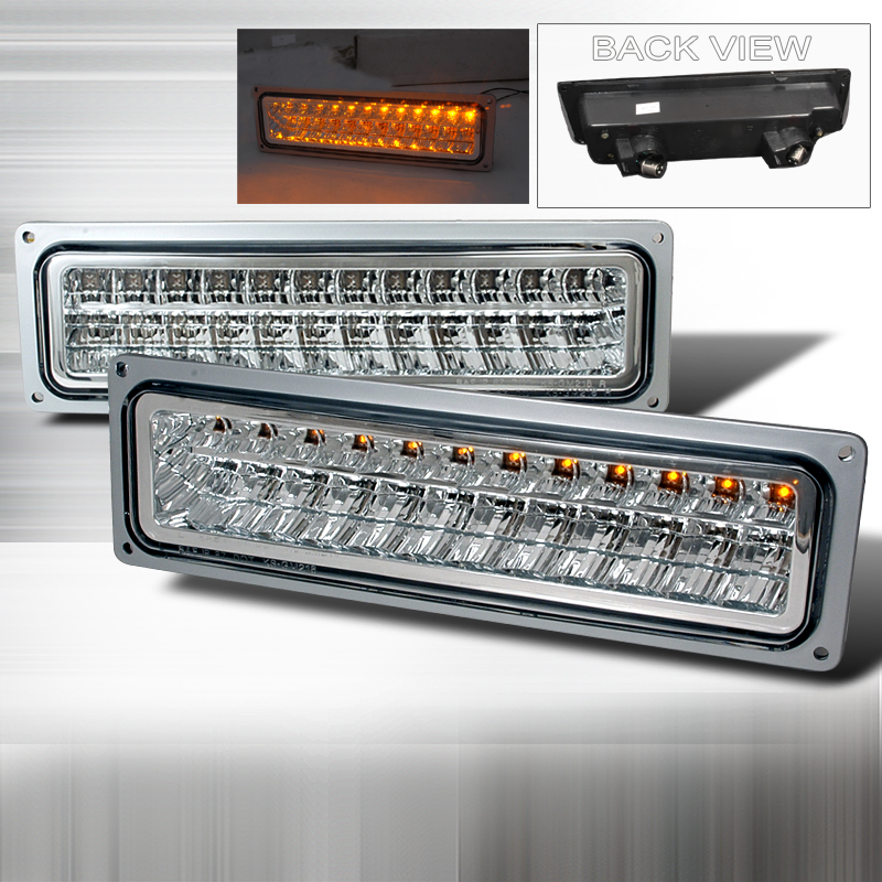 Chevrolet Full Size Pickup 1988-1998 Clear Bumper Lights LED