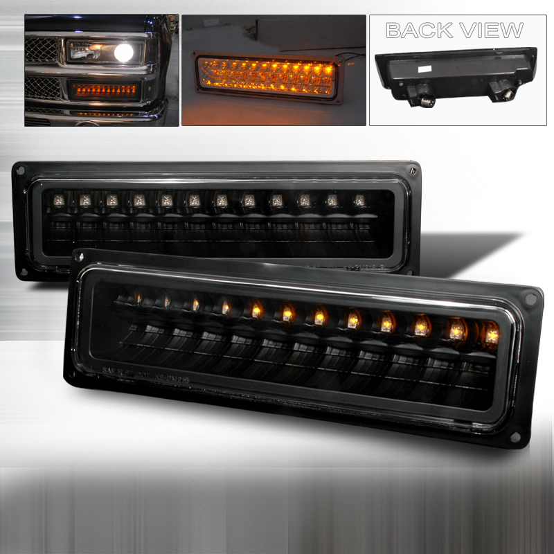 Chevrolet Full Size Pickup 1988-1998 Black Bumper Lights LED