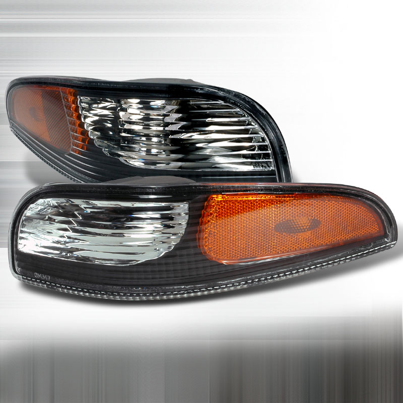Chevrolet Corvette 1997-2004 Black Bumper Lights