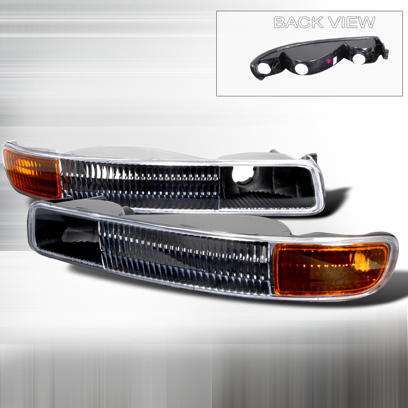 Gmc Sierra 1999-2005 Black Bumper Lights