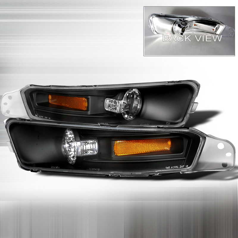 Ford Mustang 2005-2009 Black Bumper Lights
