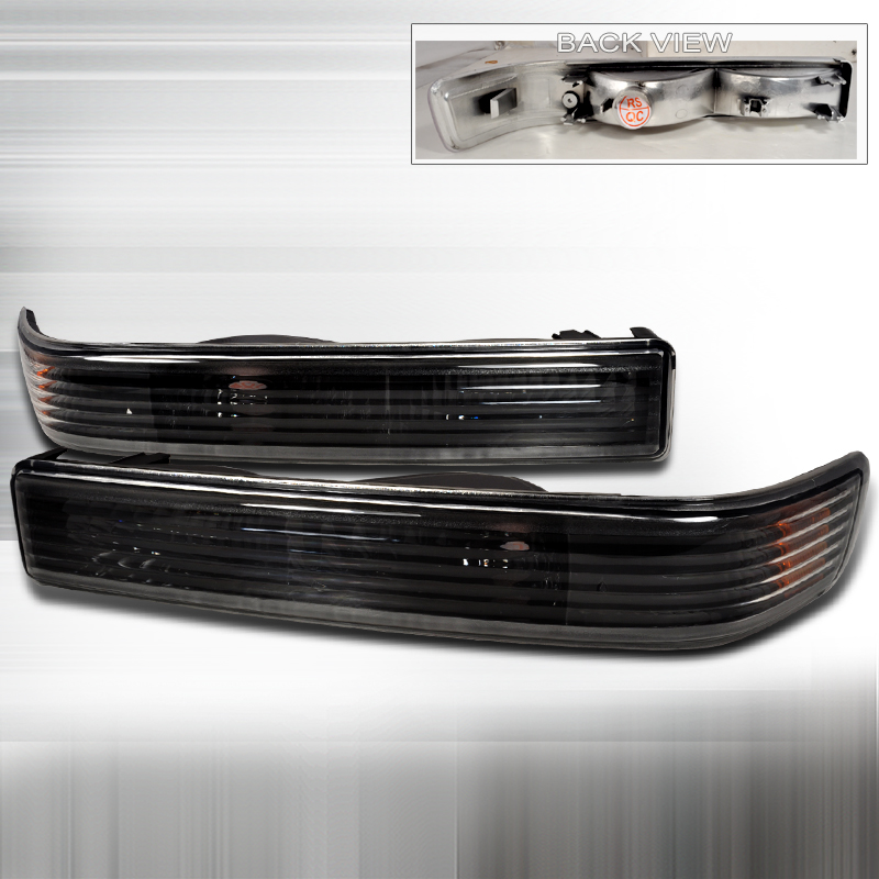 Chevrolet S10 Pickup 1998-2004 Black Bumper Lights