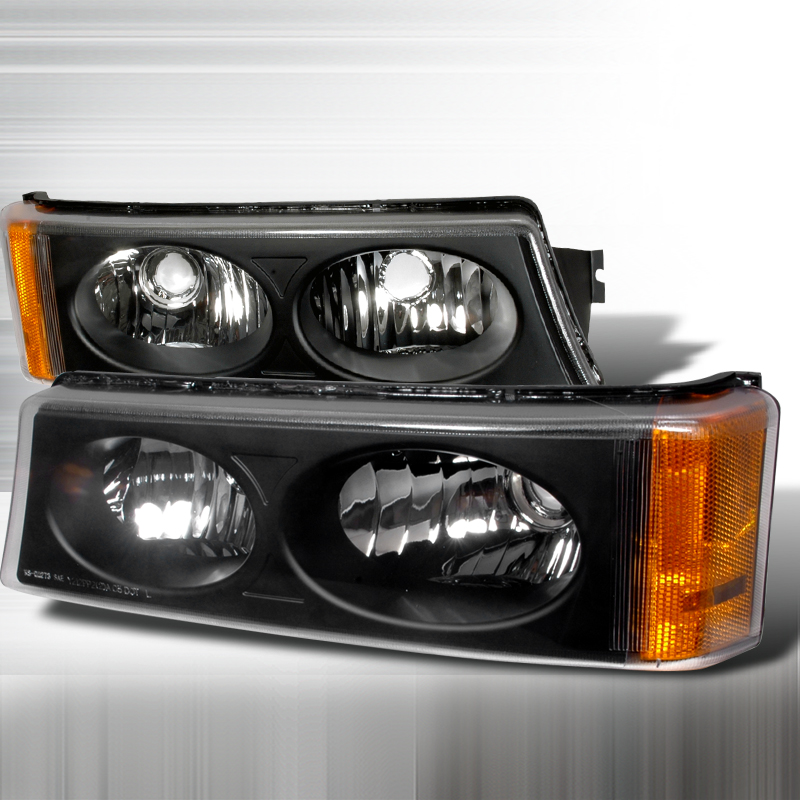 Chevrolet Silverado 2003-2006 Black Bumper Lights