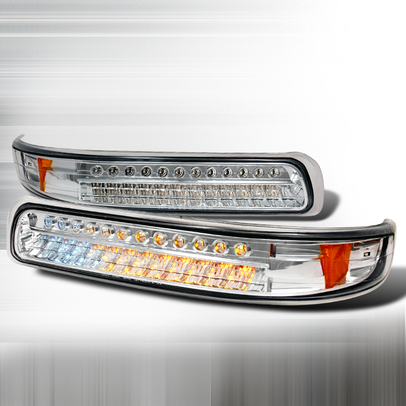 Chevrolet Silverado 1999-2002 Clear Bumper Lights LED