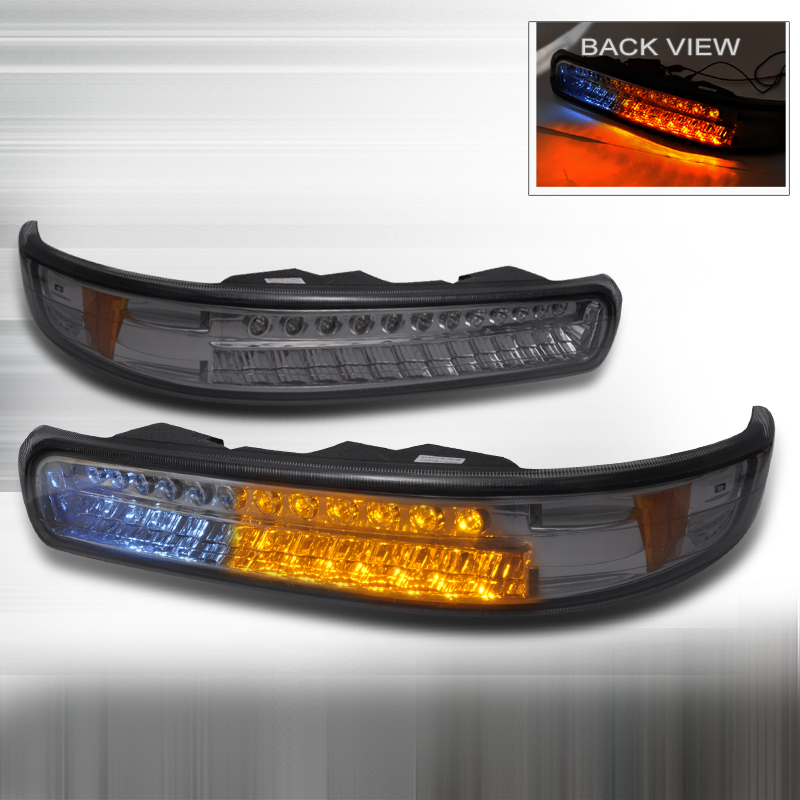 Chevrolet Silverado 1999-2002 Smoke Bumper Lights LED