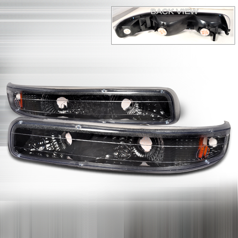 Chevrolet Silverado 1999-2002 Black Bumper Lights