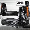 1993 Jeep Grand Cherokee  Black Bumper & Corner Lights