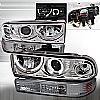 Chevrolet S10 Pickup  1998-2004 Chrome Halo Projector Headlights With Bumper Lights